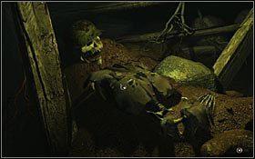 Kolejne korytarze... Przy wejściu do tego po lewej, wbity w drewnianą podporę, tkwił metalowy uchwyt - KOPALNIA (1) - ZACHODNIE CZECHY - Nibiru: Wysłannik Bogów - poradnik do gry