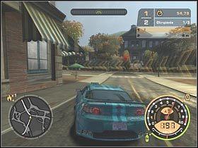 Po dotarciu do rozwidlenia dróg osobiście proponowałbym wybrać prawą odnogę - GŁÓWNY POJEDYNEK - Czarna lista 11 - Big Lou - Need for Speed: Most Wanted - poradnik do gry