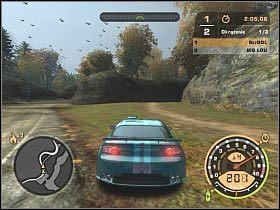 Big Lou jeździł ładnie wyglądającym, ale niezbyt rewelacyjnym Mitsubishi Eclipse - GŁÓWNY POJEDYNEK - Czarna lista 11 - Big Lou - Need for Speed: Most Wanted - poradnik do gry
