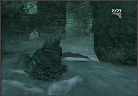 Stamtąd wskocz do większej jaskini przez spadający wodospad - [Solucja] Hayes cz.2 - Peter Jacksons King Kong - poradnik do gry