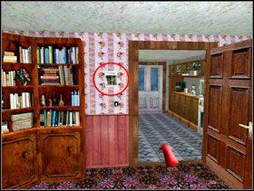 Najpierw idziesz do pokoju po prawej [obrazek 1] i ściągasz zdjęcie z miasteczka westernowego ze ściany po lewej - Las Vegas - Solucja - Lula 3D - poradnik do gry
