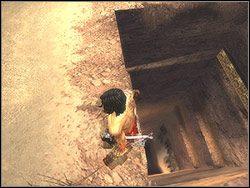 Czeka cię teraz mozolna wspinaczka w górę - [11] The Tunnels (tunele) - Prince of Persia: Dwa Trony - poradnik do gry