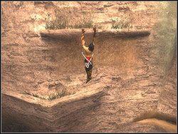 Przemieszczając się krótkimi skokami, przejdź na prawo do końca szczeliny - [11] The Tunnels (tunele) - Prince of Persia: Dwa Trony - poradnik do gry