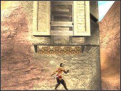 Przejdź po platformie na prawo, skocz na wyższą półkę - [11] The Tunnels (tunele) - Prince of Persia: Dwa Trony - poradnik do gry