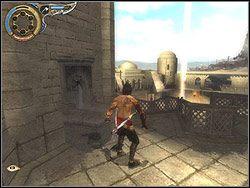 Przejdź na drugą stronę wieży i zerknij na dziedziniec - [11] The Tunnels (tunele) - Prince of Persia: Dwa Trony - poradnik do gry