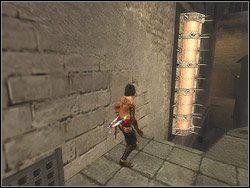 Ustaw si� przy �cianie po prawej stronie wie�y - [12] The Fortress (twierdza) - Prince of Persia: Dwa Trony - poradnik do gry