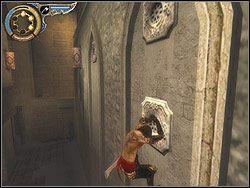 Wbiegnij pionowo na �cian� i wbij sztylet w najni�szy relief - [12] The Fortress (twierdza) - Prince of Persia: Dwa Trony - poradnik do gry