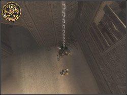 Zlokalizuj wiszący w oddali łańcuch (możesz włączyć widok panoramiczny) - [12] The Fortress (twierdza) - Prince of Persia: Dwa Trony - poradnik do gry