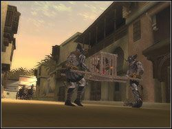 Po przekroczeniu bramy fortecy krata z trzaskiem opadnie w dół, odgradzając cię od nieprzyjaciół - [12] The Fortress (twierdza) - Prince of Persia: Dwa Trony - poradnik do gry