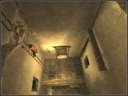 Zauwa�, �e po lewej stronie przy �cianie stoi drabina - [12] The Fortress (twierdza) - Prince of Persia: Dwa Trony - poradnik do gry