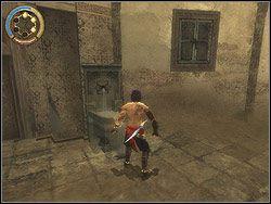 Wejdź do budynku i wyjdź korytarzem na ulicę - [12] The Fortress (twierdza) - Prince of Persia: Dwa Trony - poradnik do gry
