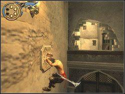 Wbiegnij teraz do budynku wejściem pod niszą, w której zsunąłeś się wcześniej na dół - [13] The Lower City (dolne miasto) - Prince of Persia: Dwa Trony - poradnik do gry