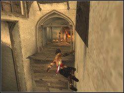 Zostaniesz zaatakowany przez nowy rodzaj nieprzyjaci� - Ogary �owcze - [13] The Lower City (dolne miasto) - Prince of Persia: Dwa Trony - poradnik do gry