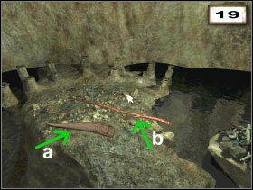 a - Aurochs horn (#21 ) b - Long branch (#22 ) - Przedmioty - Druga jaskinia - Secret of the Lost Cavern: Tajemnica Zaginionej Jaskini - poradnik do gry