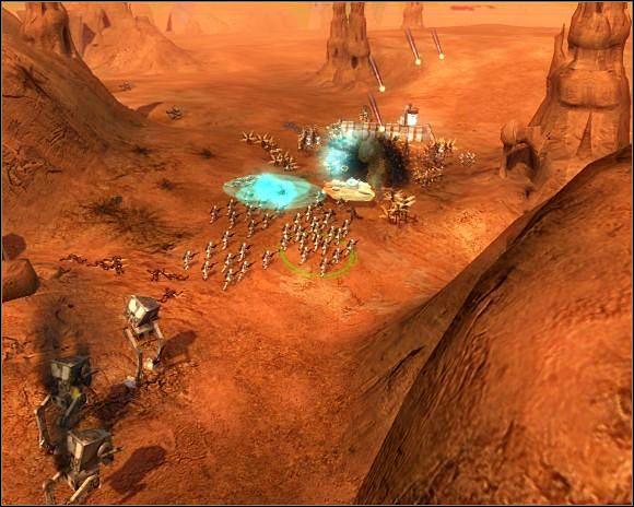 Jeśli wokół zrobi się za dużo Genozjan, pomaga nalot - Misja 4 Podbój Genosis - Imperium - Star Wars: Empire At War - poradnik do gry