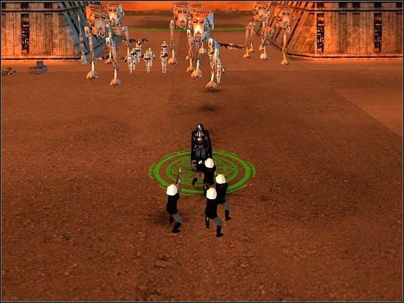 By nie tracić żołnierzy dobrze jest trzymać Vadera z przodu. Rebelianci nie są dla niego zagrożeniem. - Misja 2 Zgnieć, zabij, zniszcz - Imperium - Star Wars: Empire At War - poradnik do gry