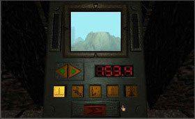 Zaczynając od lewej strony, przycisk z kropelkami wody ustaw na 153,4 stopnie, kolejny przycisk - z lawą na 130,3 stopnie, następnie zegar na 55,6 stopni, kryształ - 15,0 stopni i źródło na 212,2 stopnie. - SELENITIC AGE cz.3 - Myst - poradnik do gry