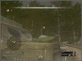 Wyczekaj na dogodny moment po cichu zabij żołnierz z prawej [1] - Misja 4 - Under Their Noses - Solucja - Commandos: Strike Force - poradnik do gry