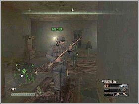 W pierwszym napotkanym pokoju natkniesz si� na arsena� [1] - Misja 5 - Resistance - Solucja - Commandos: Strike Force - poradnik do gry