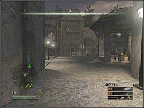 Przejdź przez centrum i udaj się na zachód, gdzie przejdź przez stalową bramę [1] - Misja 5 - Resistance - Solucja - Commandos: Strike Force - poradnik do gry