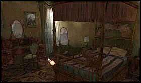 Wyjdź z pokoju i skieruj się do kolejnych drzwi znajdujących się na tym piętrze. Te po lewej prowadzą do głównej sypialni, a te po prawej do galerii. Wejdź do sypialni. - SOBOTA 12 PAŹDZIERNIKA cz.3 - Scratches - poradnik do gry