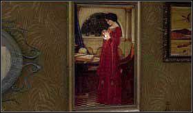 Tutaj zwróć uwagę na obraz kobiety trzymającej kulę. Najedź dłonią na ową kulę i przyciśnij. - SOBOTA 12 PAŹDZIERNIKA cz.3 - Scratches - poradnik do gry