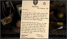 Przeczytaj leżący na szafce list do Jamesa od dyrektora muzeum - SOBOTA 12 PAŹDZIERNIKA cz.3 - Scratches - poradnik do gry