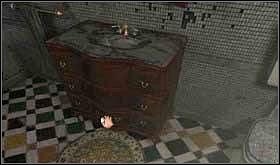 Teraz wyjdź z galerii i skieruj się do już ostatniego na tym piętrze pomieszczenia, czyli łazienki. - SOBOTA 12 PAŹDZIERNIKA cz.3 - Scratches - poradnik do gry