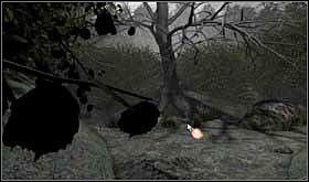 Jeśli pójdziesz prosto, dojdziesz do kolejnego rozwidlenia - droga w lewo doprowadzi Cię do drzewa, pod którym znajduje się mały zbiornik wodny, - SOBOTA 12 PAŹDZIERNIKA cz.4 - Scratches - poradnik do gry