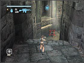 Po dotarciu do centralnego pomieszczenia rozpraw się z nową grupą żołnierzy - Peru - Return to Paraiso (8) - Etap 2 - Tomb Raider: Legenda - poradnik do gry