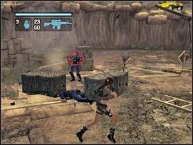 Jeden z �o�nierzy b�dzie pr�bowa� zabi� Anay� - Peru - Return to Paraiso (8) - Etap 2 - Tomb Raider: Legenda - poradnik do gry