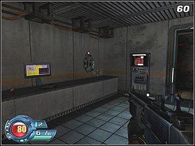 Tuż za rogiem znajdziesz drzwi do pokoju ochrony - U4 Laboratory - Infiltration - Solucja - SiN Episodes: Emergence - poradnik do gry