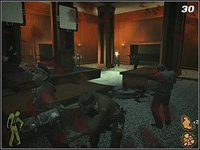 Pomieszczenie, w którym się właśnie znalazłeś (#30), jest szczelnie wypełnione przez policjantów - The Slammer - Solucja - Stubbs the Zombie in Rebel Without a Pulse - poradnik do gry