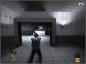 Po dotarciu do przycisku wciśnij go (#33) i obróć się o 180 stopni - The Slammer - Solucja - Stubbs the Zombie in Rebel Without a Pulse - poradnik do gry
