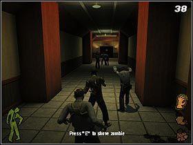 W korytarzu z czerwonymi kolumnami, skręć w prawo - The Slammer - Solucja - Stubbs the Zombie in Rebel Without a Pulse - poradnik do gry