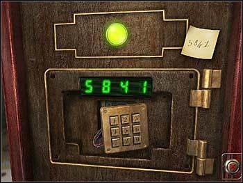 Teraz powinieneś skonstruować liczbę czterocyfrową (pełna dowolność, byle z dobrym skutkiem) taką, żeby przy którymś powtórzeniu (sam zdecyduj, przy którym) jej cyfry dały potrzebne - 5, 8, 4, 1 - Warsztat - Parter - Safecracker - poradnik do gry