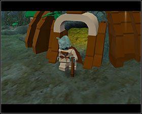 Podejdź do Yody i naciśnij przycisk zmiany postaci, a Luke weźmie go na barana - Episode V - Dagobah - Story Mode - LEGO Star Wars II: The Original Trilogy - poradnik do gry