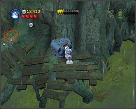 Od teraz Luke może samodzielnie używać Mocy, a Yoda jest grywalną postacią (tym samym wymiataczem, co w oryginalnym Lego Star Wars) - Episode V - Dagobah - Story Mode - LEGO Star Wars II: The Original Trilogy - poradnik do gry