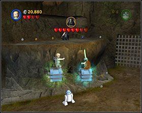 Przeskocz przez kolejne platformy przez cały wąwóz - Episode V - Dagobah - Story Mode - LEGO Star Wars II: The Original Trilogy - poradnik do gry