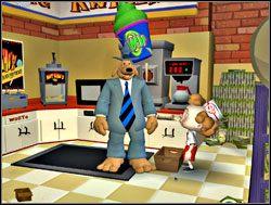 Podejrzany okazał się Whizzerem, kumplem spotkanego na zewnątrz chłopaka, z którym występował wspólnie w programie telewizyjnym - Część II - Zapomniane telewizyjne gwiazdy - Sam & Max: Season 1 - Culture Shock - poradnik do gry