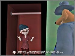 Sam otworzył dziwnie poruszającą się szafę - Część II - Zapomniane telewizyjne gwiazdy - Sam & Max: Season 1 - Culture Shock - poradnik do gry