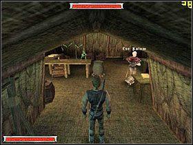 Na miejscu strażnikom mówisz, że chcesz się przyłączyć do obozu - Witamy w Koloni (11) | Rozdział 1 | Gothic - Gothic - poradnik do gry