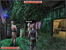 *Teraz udaj się na plac świątynny i odnajdź Baala Tyona (obrazek z lewej) - Witamy w Koloni (11) | Rozdział 1 | Gothic - Gothic - poradnik do gry