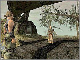 Idąc dalej przed siebie dotrzesz do Baala Cadara (obrazek z lewej) - Witamy w Koloni (12) | Rozdział 1 | Gothic - Gothic - poradnik do gry