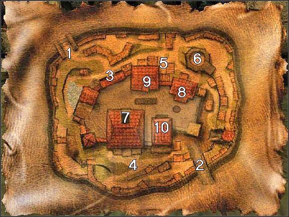 Mapa Plan Starego Obozu Mapy Gothic Gothic Poradnik Do