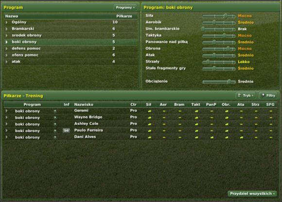 Dokładny opis poszczególnych elementów - Trening cz. II - Zarządzanie drużyną - Football Manager 2007 - poradnik do gry