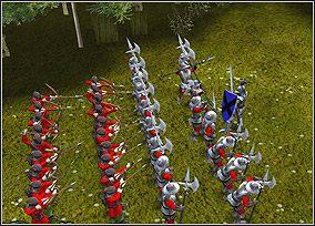 Tak ustawione powinno być wojsko do walki - Chapter IV - The Making of Sir Gareth - Kampania King Arthur - Twierdza Legendy - poradnik do gry