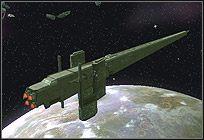 Olbrzymi statek będący fabryką jednostek Mrocznych szturmowców (Dark Trooper) - Bohaterowie i jednostki kosmiczne - Imperium - Star Wars: Empire at War - Forces of Corruption - poradnik do gry