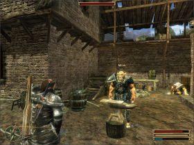 Milok chce odzyska� sw�j stary miecz, kt�ry zosta� zabrany przez Tempecka, dow�dc� ochrony wykopalisk pod �wi�tyni� w Trelis (opsane dalej) - Trelis (1) - Questy - Gothic 3 - poradnik do gry