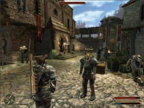Musisz zabra� ze sob� Finleya i Tylera (dostaniesz wi�cej do�wiadczenia) ale pami�taj o tym by zostawi� ich w bezpiecznej odleg�o�ci od miasta - Trelis (3) - Questy - Gothic 3 - poradnik do gry